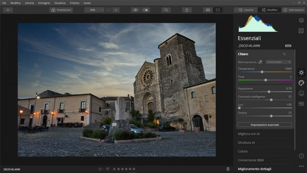 Interfaccia Luminar 4